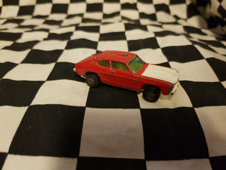 Vintage Loose Corgi Whizz Wheels Ford Capri Red