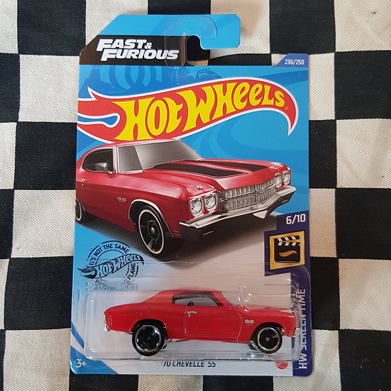 Hot Wheels 2020 Screen Time Fast & Furious 70 Chevelle SS