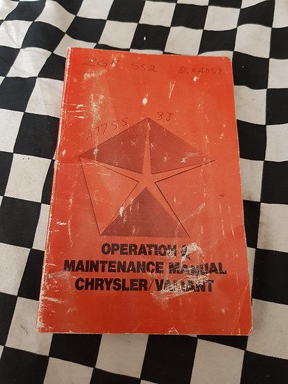 Chrysler Valiant VK series Owners Manual