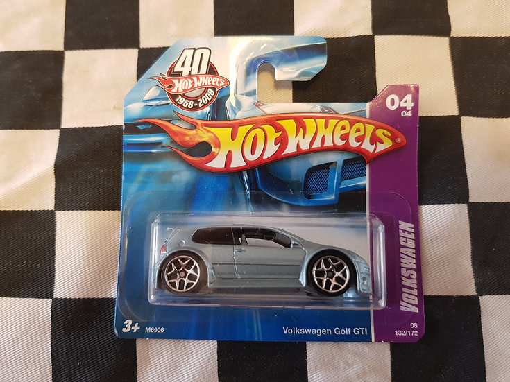 Hot Wheels 2008 Volkswagen 4/4 VW Golf GTI Short Card