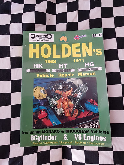 Holden HK HT HG 6CYL & V8 Ellerys Workshop Manual Incl Chev Monaro Premier Ute