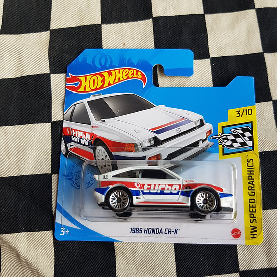 Hot Wheels 2021 Speed Graphics 1985 Honda CR-X Short card