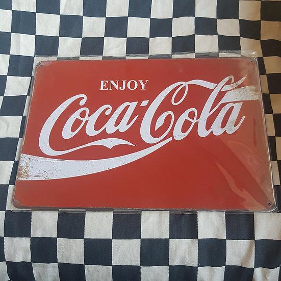 Tin Sign Repro 20x30 Enjoy Coca Cola