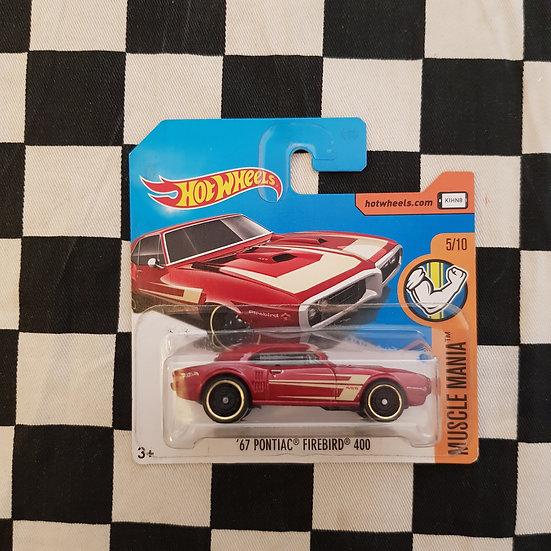 Hot Wheels 2017  Muscle Mania 67 Pontiac Firebird 400 Maroon Short Card