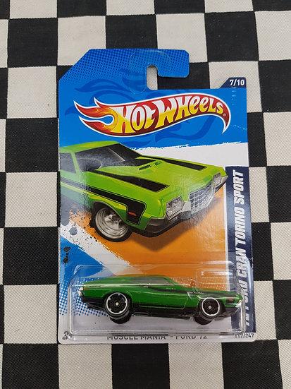 Hot Wheels 2012 Muscle Mania 72 ford Gran Torino Sport
