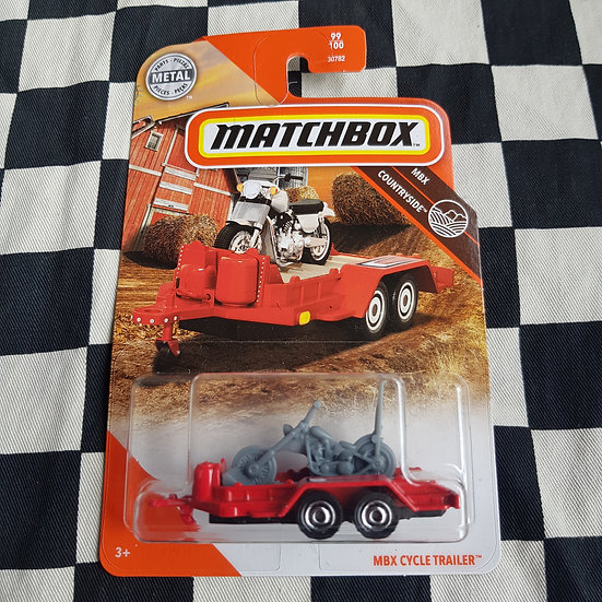 Matchbox Mbx Countryside Motorcycle Trailer (Chopper Variation) Carded