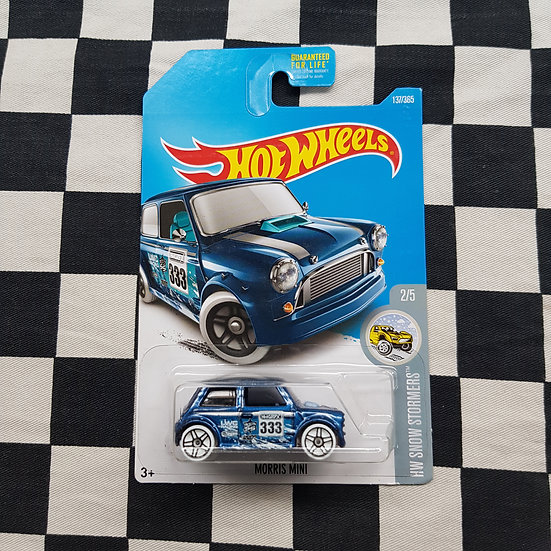 Hot Wheels 2015 Snow Stormers Morris Mini Blue