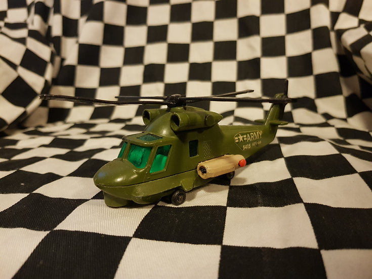Vintage Matchbox Battle Kings Army Helicopter