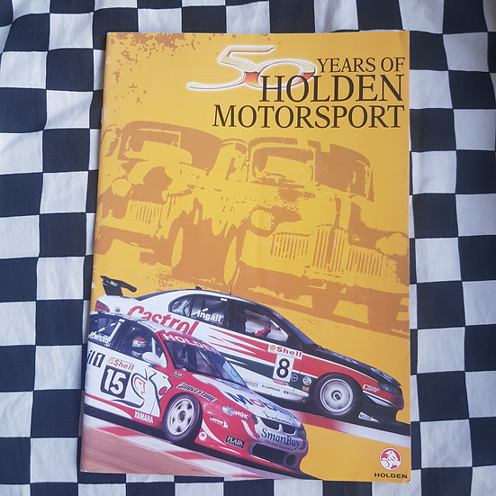 50 Years of Holden Motorsport Holden Publication  1998