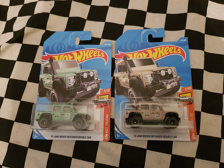 Hot Wheels 2018 HW Hot Trucks 15 Land Rover Defender Double Cab Choice of 2