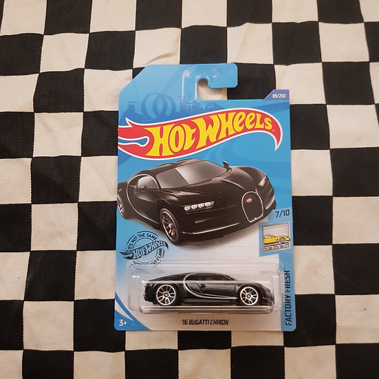 Hot Wheels 2020 Factory Fresh 16 Bugatti Chiron Black