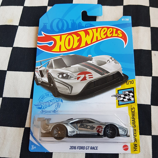 Hot Wheels 2021 Speed Graphics 2016 Ford Gt Race Silver