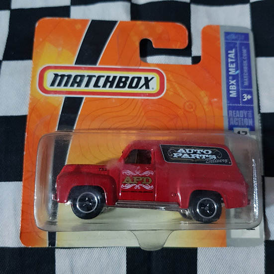 Matchbox  2008 Ford F100 Panel Delivery 1956 Red