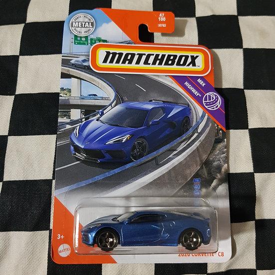 Matchbox Mbx Highway 2020 C8 Corvette Blue