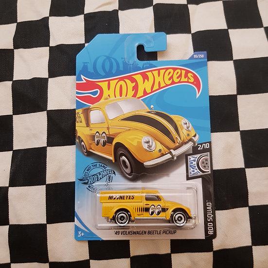 Hot Wheels 2020 Rod Squad Mooneyes 49 Volkswagen Pickup Moon Yellow