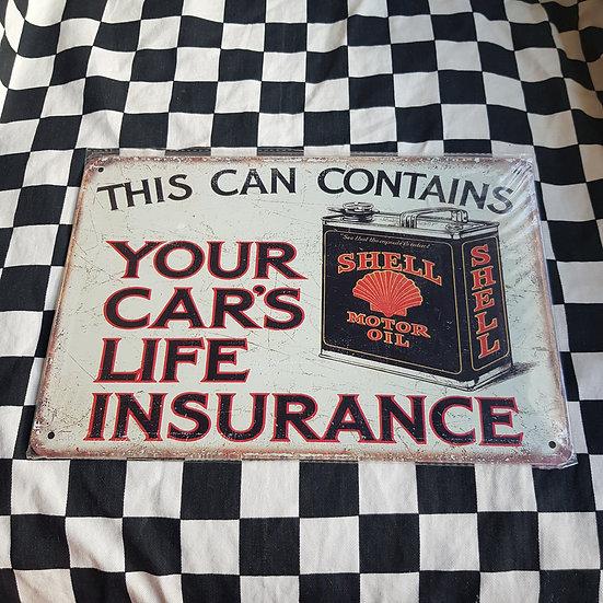 Tin Sign Repro 20x30 Shell Insurance