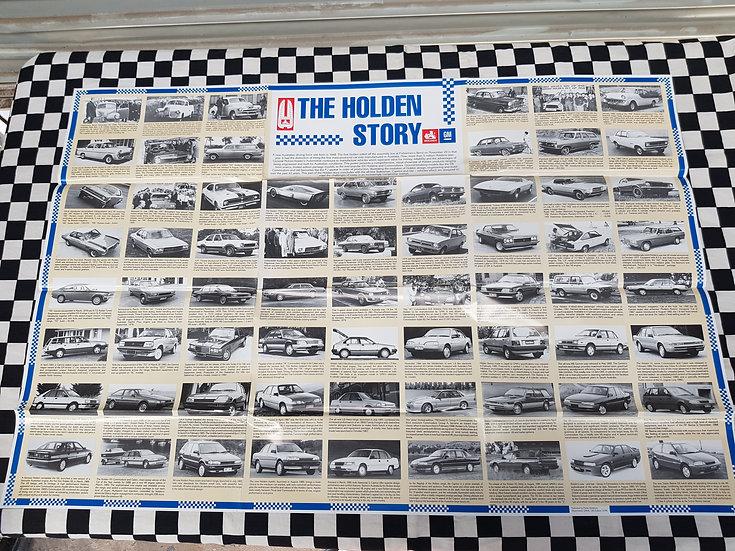 Nos The Holden Story Poster GMH PRINTED !!! FX FJ FE FC FB EK EJ EH HD HR GTS