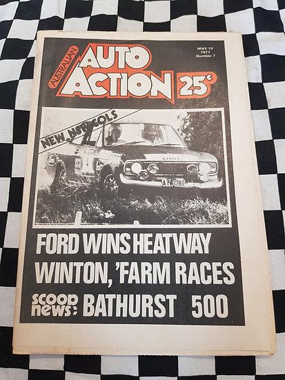 Australian Auto Action Magazine #7 May 19 1971