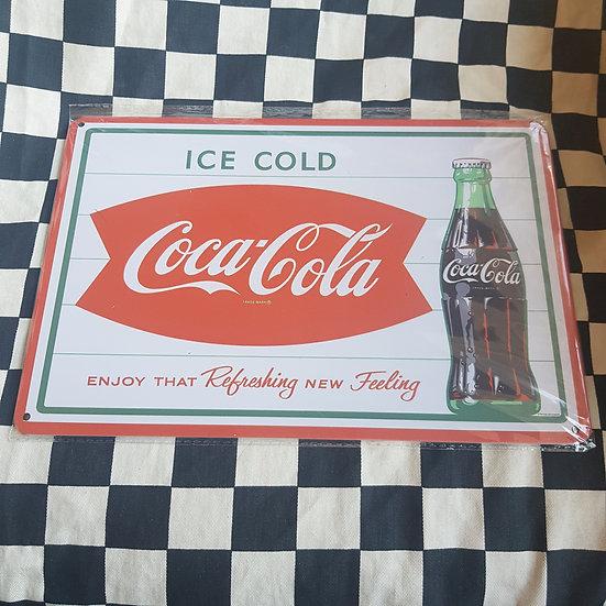 Tin Sign Repro 20x30 Ice Cold Coca Cola