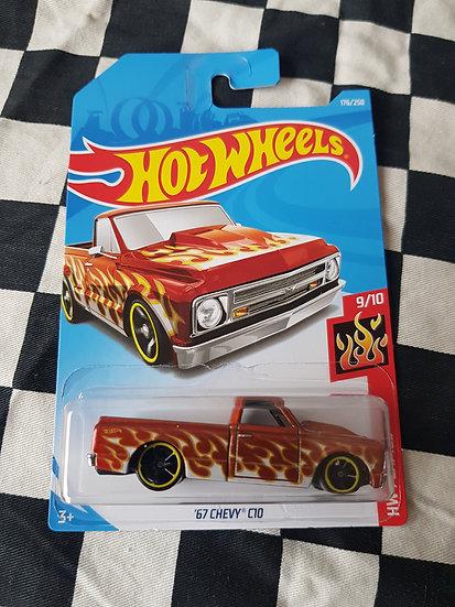 Hot Wheels 2019 Flames Series 67 Chevy C10 Pickup