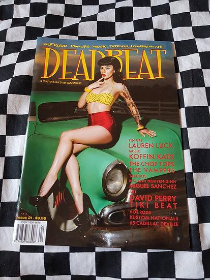 DEADBEAT Magazine #21 Hotrods Pinups Music Tattoos Lowbrow Art