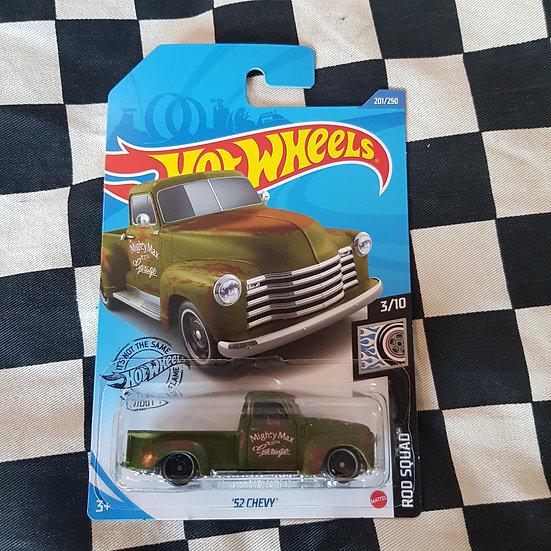 Hot Wheels 2020 Rod Squad 52 Chevy Pickup Truck Green