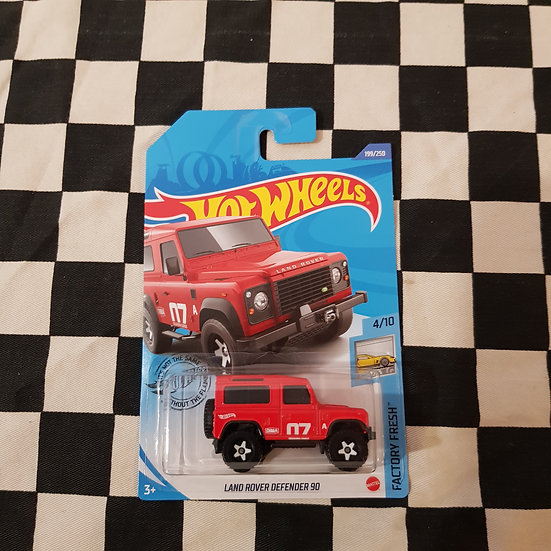 Hot Wheels 2020 Factory Fresh Land Rover Defender 90 Red