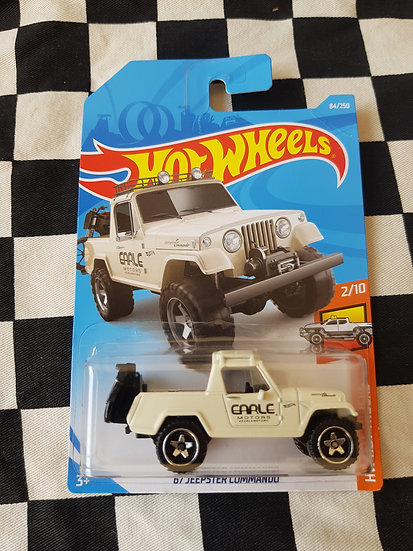 Hot Wheels 2019 Hot Trucks 67 Jeepster Commando CREAM