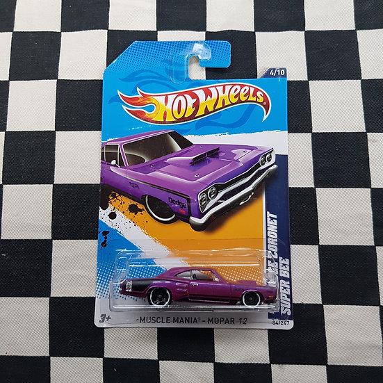 Hot Wheels 2012 Muscle Mania 69 Dodge Coronet Super Bee Purple
