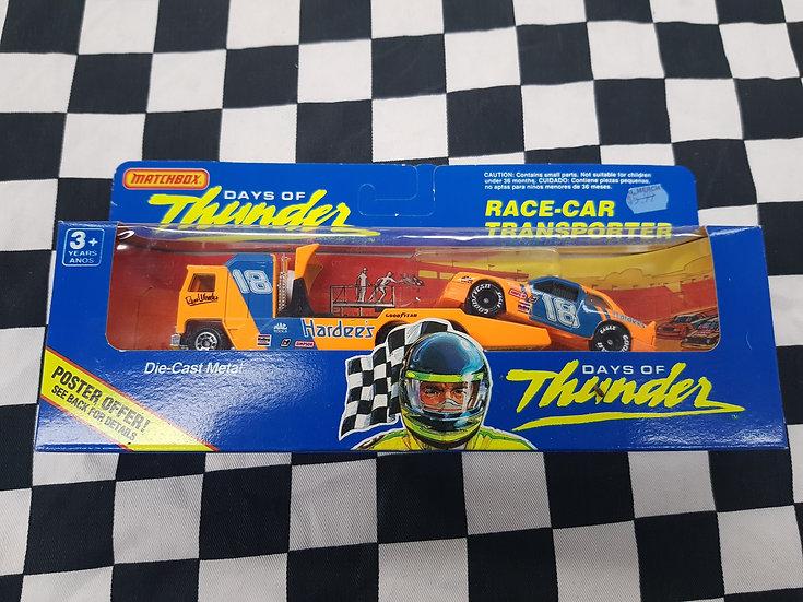 Matchbox Days of Thunder Race Car Transporter Russ Wheeler