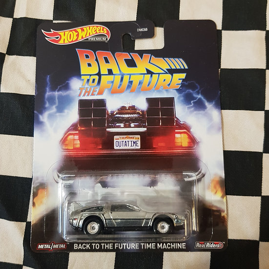 Hot Wheels Premium Back to the Future Time Machine Real Riders