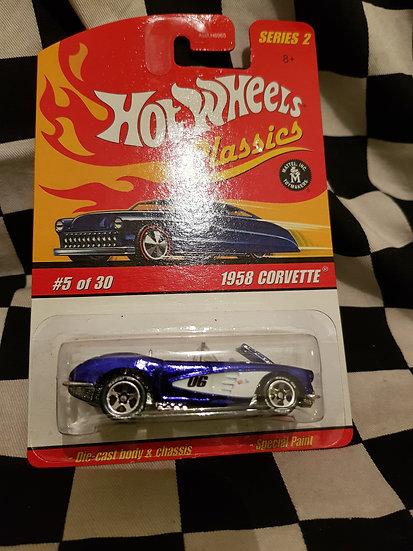 Hot Wheels Classics s2 1958 Corvette Blue