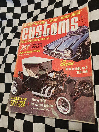 CUSTOMS ILLUSTRATED magazine September 1965