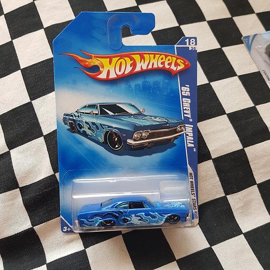 Hot Wheels 2008 Stars 1965 Chevy Impala Blue