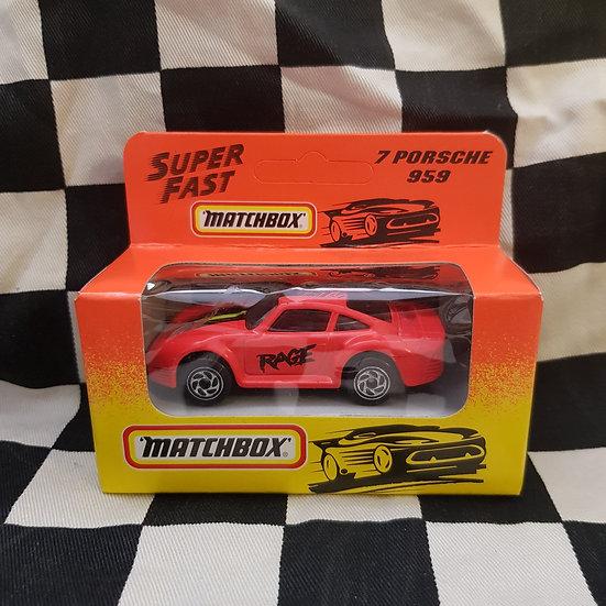 Matchbox 1993 Super Fast Boxed Porsche 959 Pink