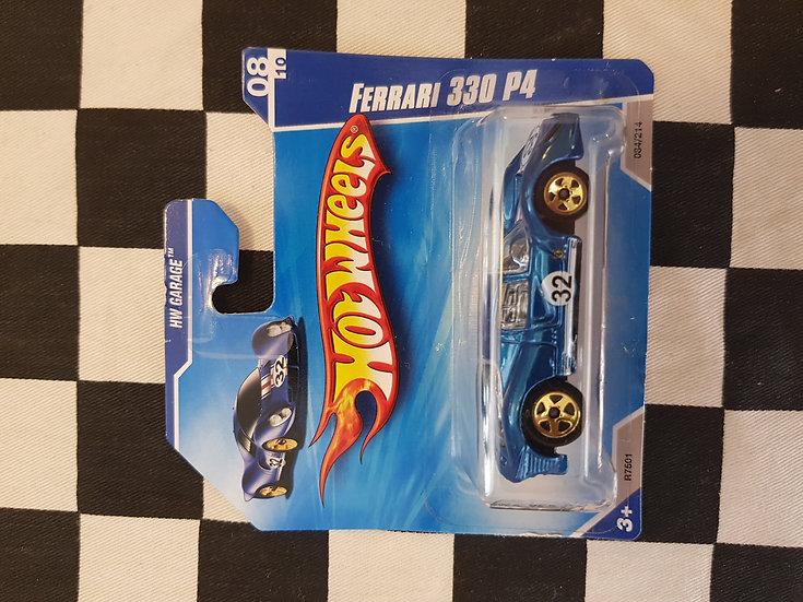 Hot Wheels 2010 Garage Ferrari 330 P4 Blue Short Card