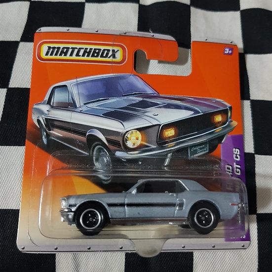 Matchbox  2010 68 Ford Mustang GT CS Shelby Silver Short Card