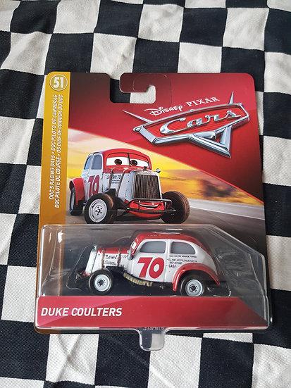 Disney Pixar Cars Duke Coulters Vintage Stockcar Racer Speedway