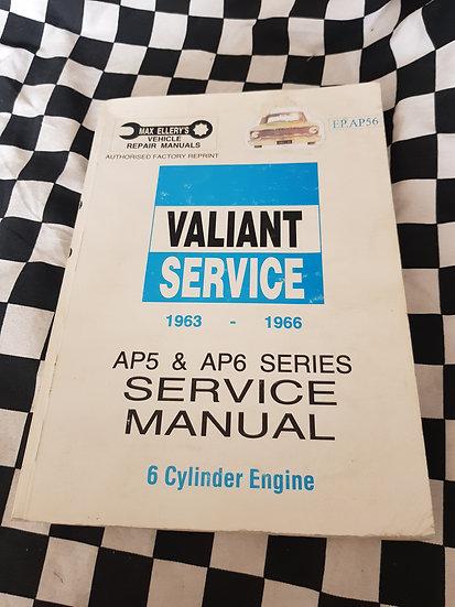Ellerys VALIANT AP5 AP6 workshop manual (factory reprint)