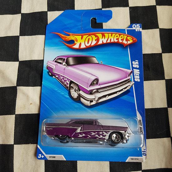 Hot Wheels 2010 Hot Auction 56 Merc Purple  Mercury Kustom Ford Customline