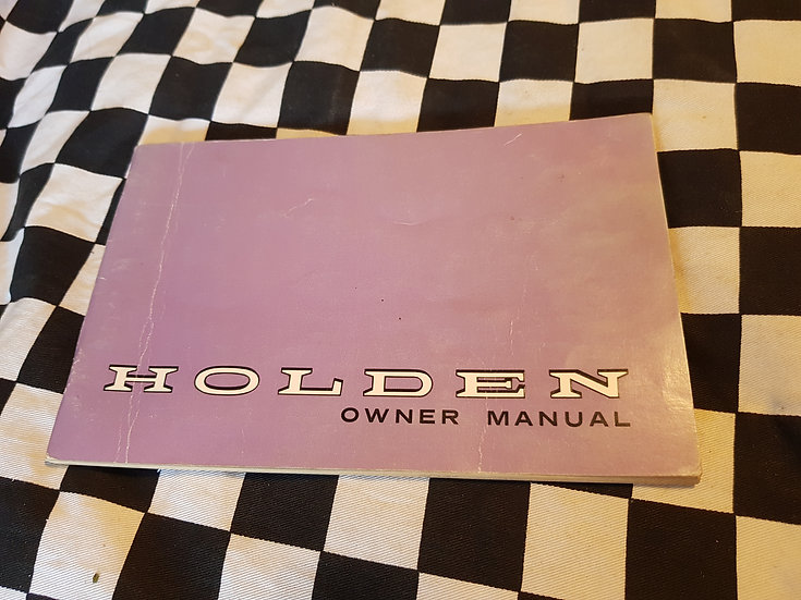 Holden HG Owner Manual