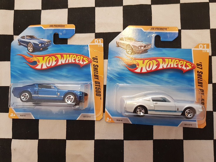 Hot Wheels 2010 First Editions 67 Shelby GT 500 Choice of 2
