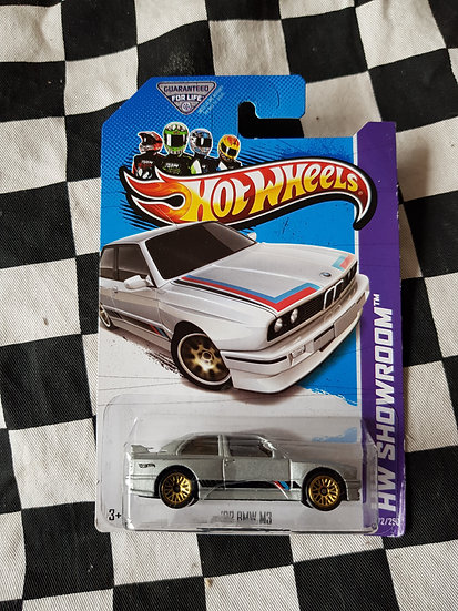 Hot Wheels Showroom 2013 92 BMW M3 Silver