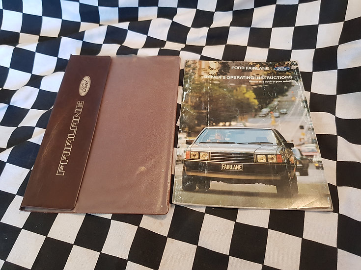 Ford Fairlane ZK Owners Manual & Wallet