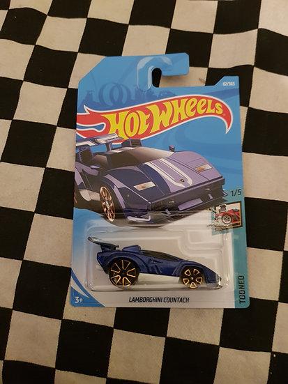 Hot Wheels 2018 Tooned Lamborghini Countach Blue