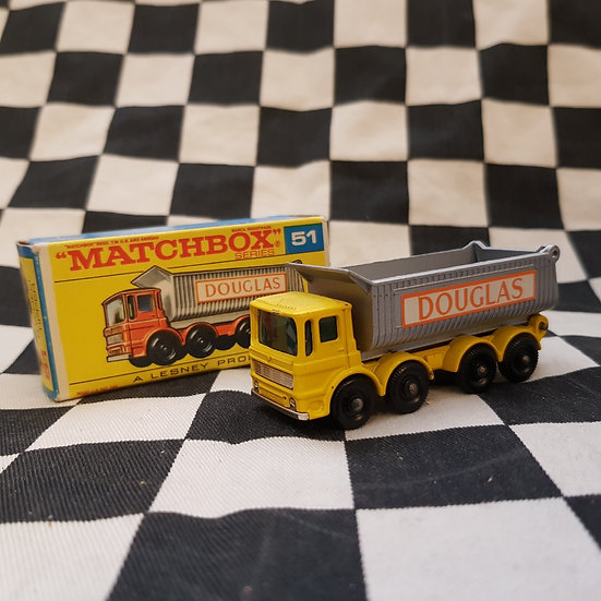 Matchbox Boxed Douglas 8 Wheel Tipper Yellow