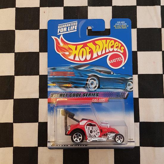 Hot Wheels 2000 Secret Code Fiat 500c Altered Drag Car RED