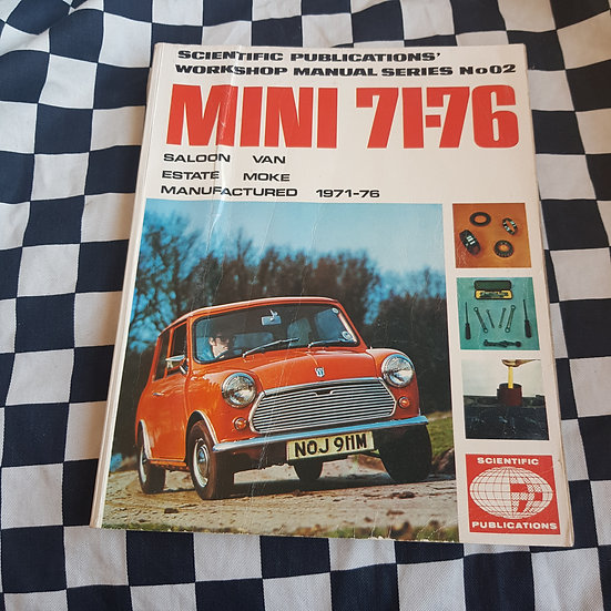 Morris Mini 1971-76 Workshop Manual Clubman Moke 850 1000 1100 1275