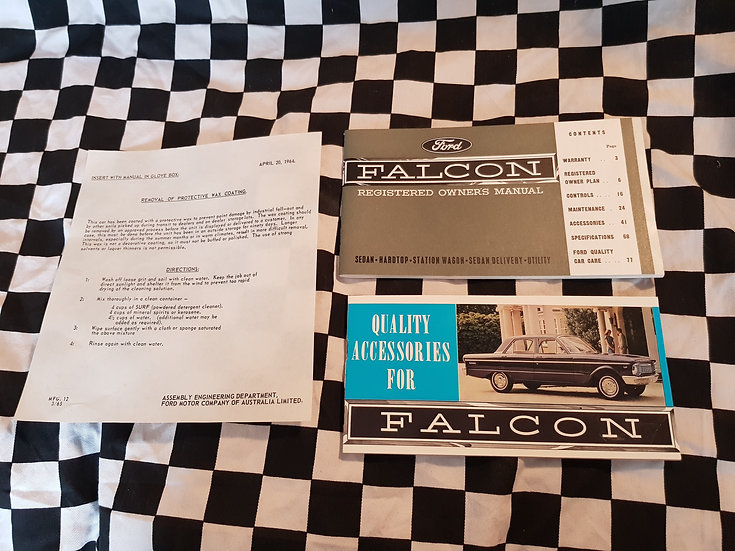 Nos XP FALCON OWNER MANUAL ACCESSORY BOOK SET