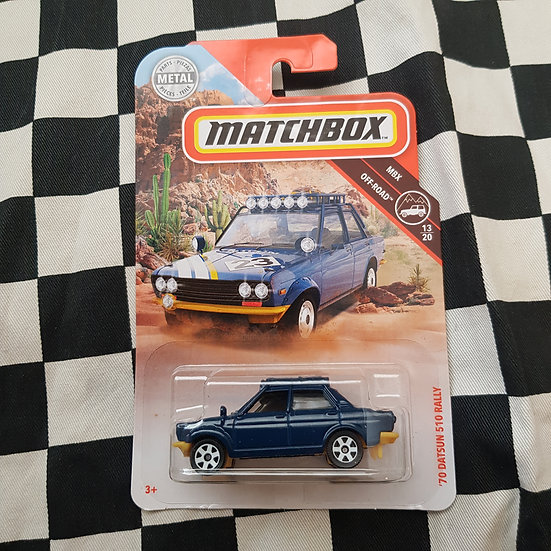 Matchbox 70 Datsun 510 Rallly 1600 Blue